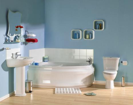 Flip-Flop「Interior of Blue bathroom」:スマホ壁紙(7)