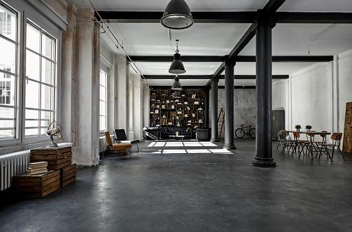 Fashion Industry「Interior of a loft flat」:スマホ壁紙(9)