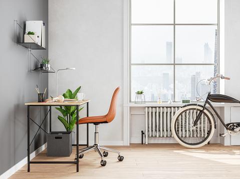 Baseboard「Interior of home office」:スマホ壁紙(11)