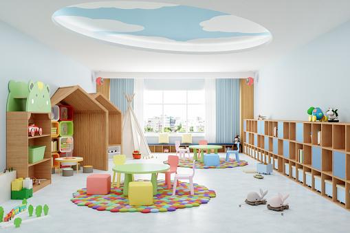 Learning「Interior Of A Modern Kindergarten Classroom」:スマホ壁紙(12)