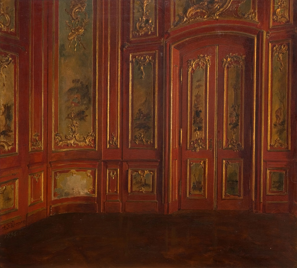 Wood Paneling「Interior Of A Room With Rococo Panelling」:写真・画像(1)[壁紙.com]