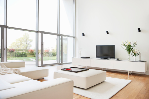 Television Set「Interior of modern living room」:スマホ壁紙(13)