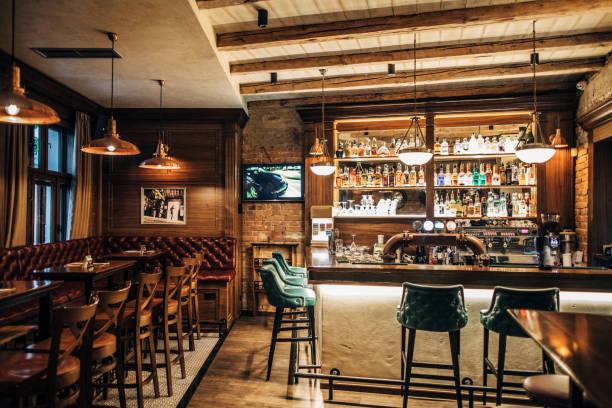 Interior of a pub:スマホ壁紙(壁紙.com)