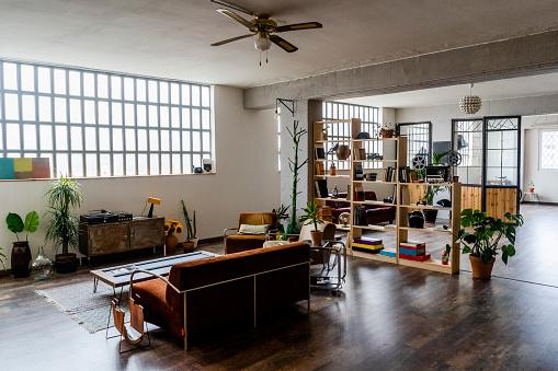 House「Interior of a loft office」:スマホ壁紙(3)