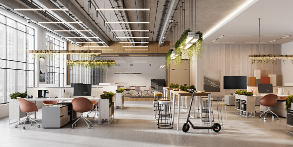 Environmental Conservation「Interior of an open plan office space」:スマホ壁紙(0)