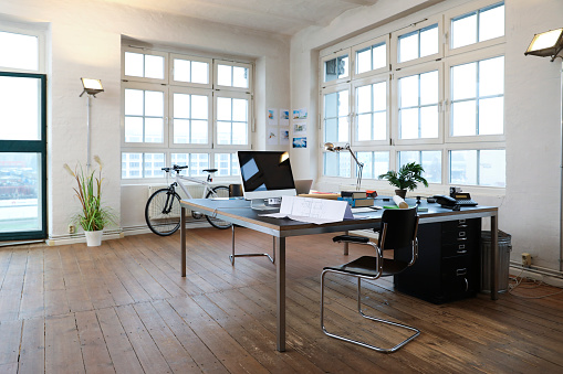 New Business「Interior of a modern informal office」:スマホ壁紙(18)