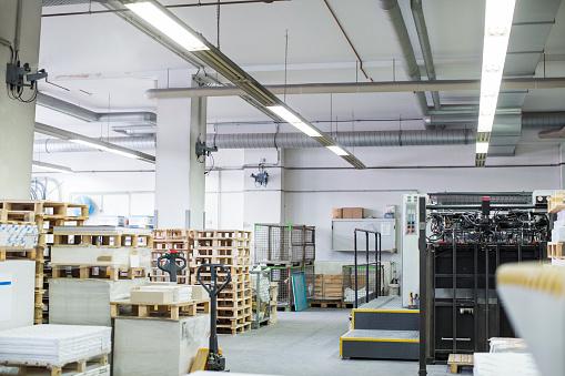 Printout「Interior of a printing press warehouse」:スマホ壁紙(9)