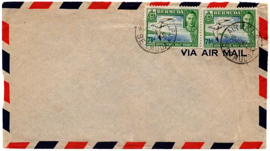 Postage Stamp「Envelope posted from Bermuda in 1945」:スマホ壁紙(11)