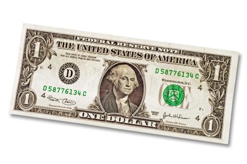 US Paper Currency「One Dollar」:スマホ壁紙(7)