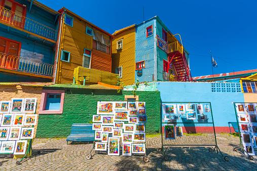 Buenos Aires「Colorful facades, Caminito, Buenos Aires」:スマホ壁紙(10)