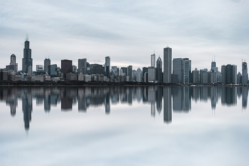 Downtown District「View of Chicago Skyline at Daytime」:スマホ壁紙(0)