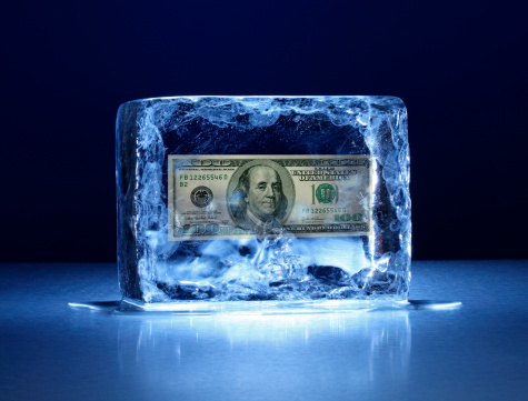 American One Hundred Dollar Bill「Large block of ice with one hundred dollar bill frozen inside」:スマホ壁紙(0)