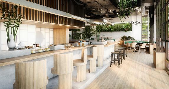 Store「Modern Café Interior」:スマホ壁紙(9)