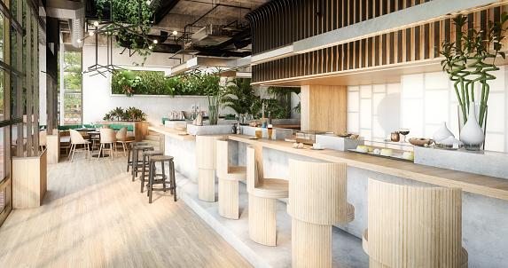 Store「Modern Café Interior」:スマホ壁紙(1)