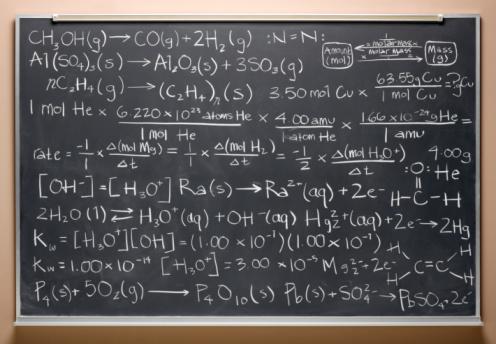 Chemical「blackboard with equations」:スマホ壁紙(18)