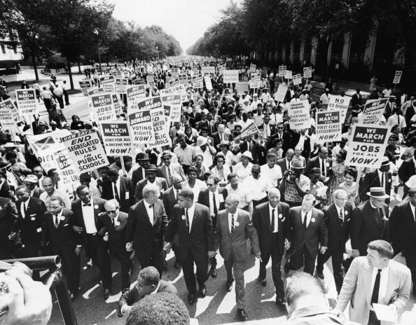 Marching「Civil Rights Leaders At The March On Washington」:写真・画像(1)[壁紙.com]