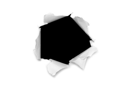 Hole「Torn paper hole」:スマホ壁紙(7)