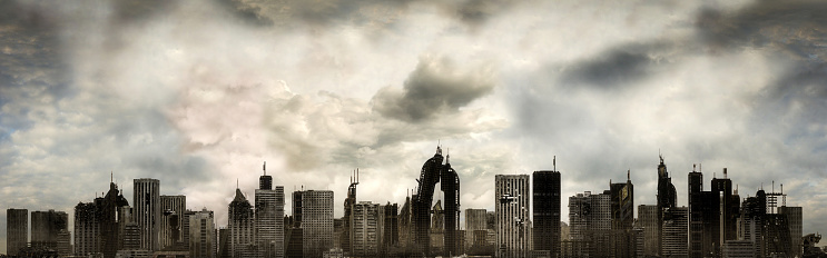 Battle「Panoramic View of a Destroyed Metropolis」:スマホ壁紙(18)