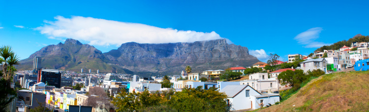 Malay Quarter「Panoramic view of Table Mountain range, Cape Town.」:スマホ壁紙(2)