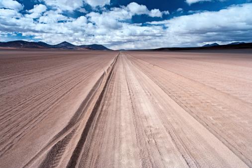 Dirt Road「Panoramic view of Bolivian altiplano」:スマホ壁紙(3)