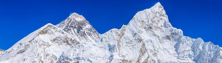 Sagarmāthā National Park「Panoramic view of Mount Everest, Nuptse from Kala Pattar」:スマホ壁紙(8)