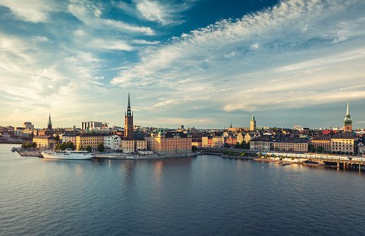Swedish Culture「Panoramic view of Stockholm old town, Sweden.」:スマホ壁紙(9)