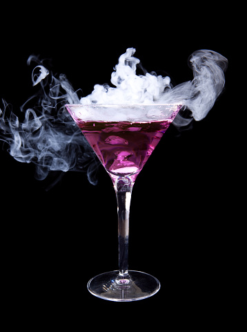 Smoke - Physical Structure「Smoking purple martini」:スマホ壁紙(12)