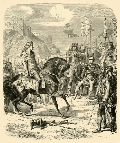 Surrendering「Vercingetorix Before Caesar」:写真・画像(3)[壁紙.com]