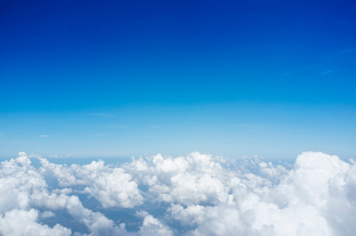 Meteorology「Blue Sky background with Clouds」:スマホ壁紙(13)