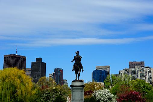 Horse「USA, Massachusetts, Boston, Statue of George Washington on Boston Common」:スマホ壁紙(2)