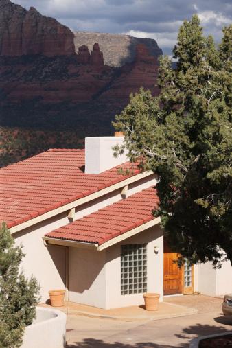 Sedona「Luxury Home Courtyard Entrance Facade」:スマホ壁紙(1)