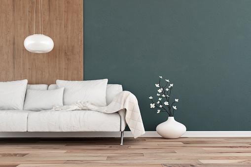 Colored Background「Elegant living room with sofa - hardwood background」:スマホ壁紙(16)