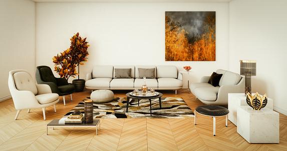 Danish Culture「Elegant Living Room」:スマホ壁紙(18)