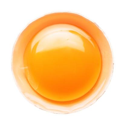 Raw Food「Fresh broken egg portion on white」:スマホ壁紙(19)