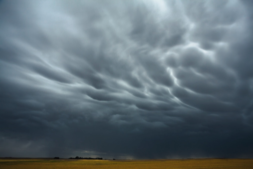 Mammatus Cloud「Mammatus storm clouds above the saskatchewan prairies」:スマホ壁紙(10)