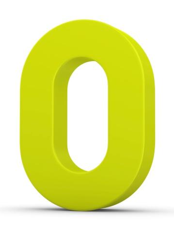 Number「green number 0」:スマホ壁紙(6)