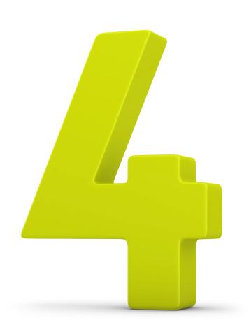 Number「green number 4」:スマホ壁紙(16)