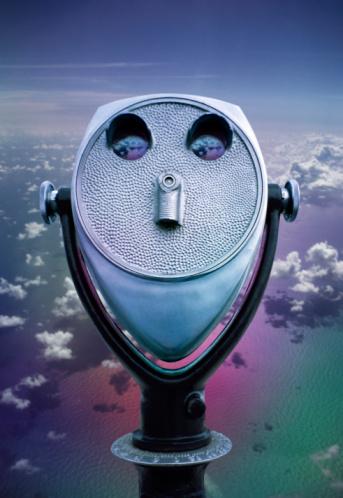 Binoculars「Viewer above clouds」:スマホ壁紙(3)