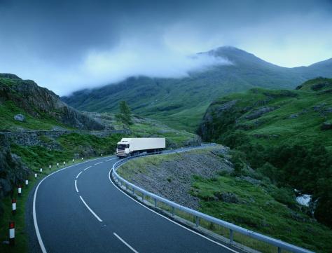 Road Marking「White lorry on road through rural landscape (Digital Composite)」:スマホ壁紙(15)