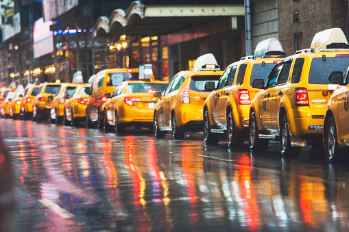 New York State「taxies in a row, new york city」:スマホ壁紙(14)