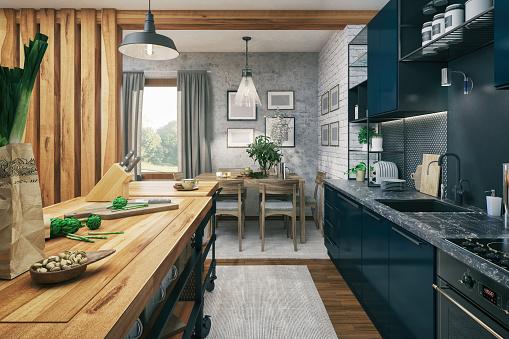 Preparing Food「Kitchen and Dining area」:スマホ壁紙(4)
