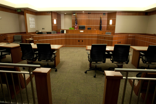 Courthouse「Modern Courtroom Wide Angle from Gallery's Point-of-View」:スマホ壁紙(7)