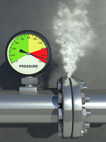 Releasing「A pressure gauge steaming and showing very high pressure」:スマホ壁紙(10)