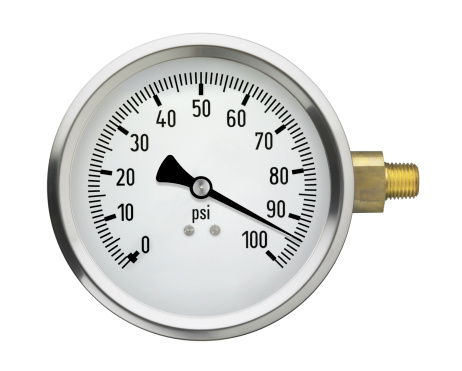 Physical Pressure「Pressure Gauge with high reading, isolated on white」:スマホ壁紙(4)