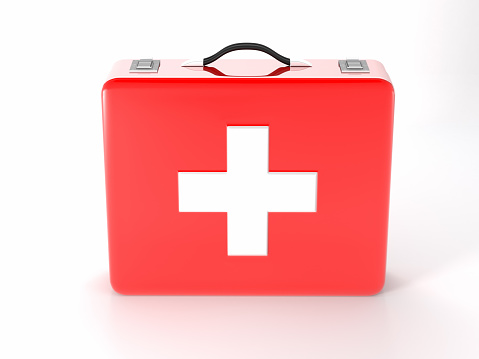 Emergency Services Occupation「Red with white cross first aid kit on white background」:スマホ壁紙(6)