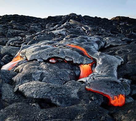 Volcanic Landscape「Hawaii, Big Island, Hawai'i Volcanoes National Park, lava」:スマホ壁紙(14)