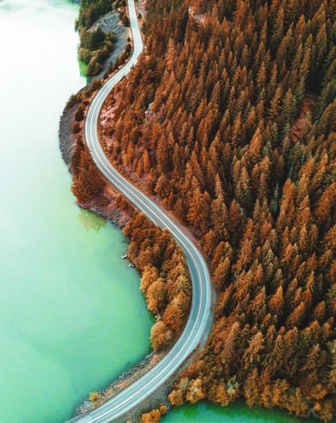 diablo lake aerial view:スマホ壁紙(壁紙.com)