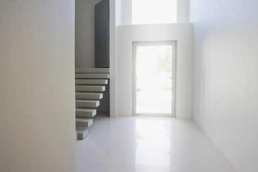 Door「Entrance and staircase of modern home」:スマホ壁紙(8)