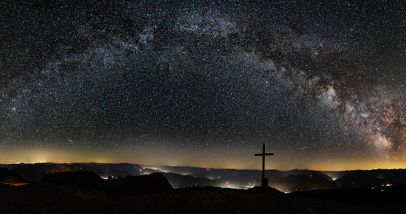 Star - Space「Milky Way on top of Mount Hochkönig in Alps」:スマホ壁紙(11)