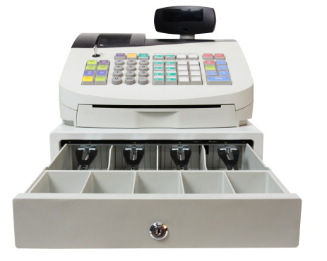 Point Of Sale「Cash Register on White with Clipping Path」:スマホ壁紙(6)
